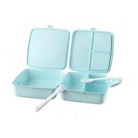 Potravinový box na občerstvenie s príborom 1,4 l Inlea4Home - mentolový