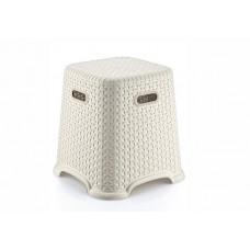 Taburetka s ratanovým dizajnom Bella 27 cm Inlea4Home - biela Preview