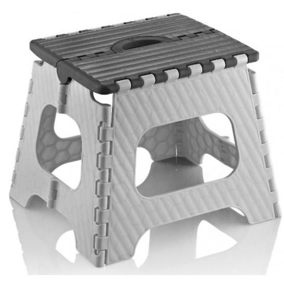 Skladacia stolička 35,5 cm Inlea4Home - sivá