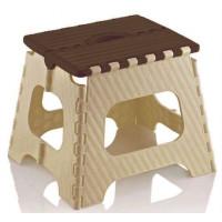 Skladacia stolička 35,5cm Inlea4Home - béžová-hnedá