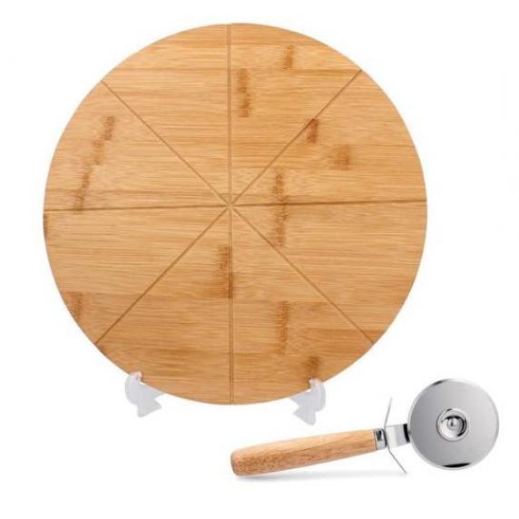 Doska na pizzu s krájačom 33x1,5 cm Inlea4Home