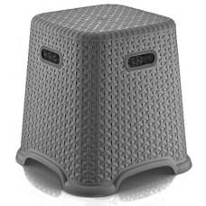 Taburetka s ratanovým dizajnom Bella 36,5 cm Inlea4Home - sivá Preview