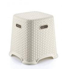Taburetka s ratanovým dizajnom Bella 36,5 cm Inlea4Home - biela Preview