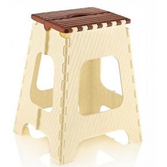 Skladacia stolička vysoká 45,5 cm Inlea4Home - béžová-hnedá