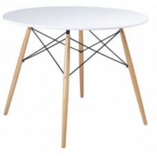 Jedálenský stôl okrúhly 60 cm Aga - biely Preview