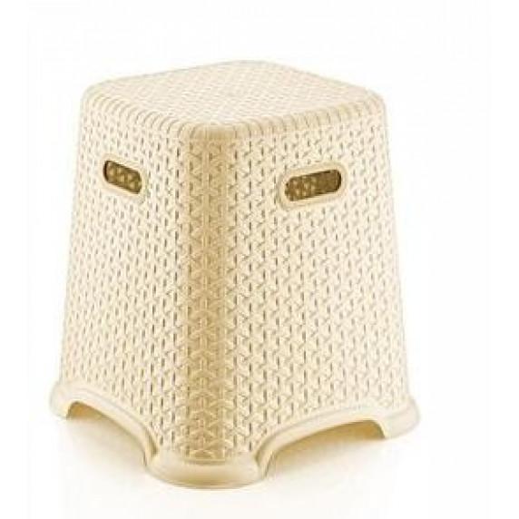 Taburetka s ratanovým dizajnom Bella 36,5 cm Inlea4Home - béžová