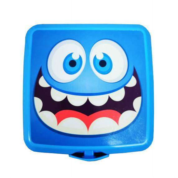 Potravinový box na občerstvenie s príborom Inlea4Home -smile