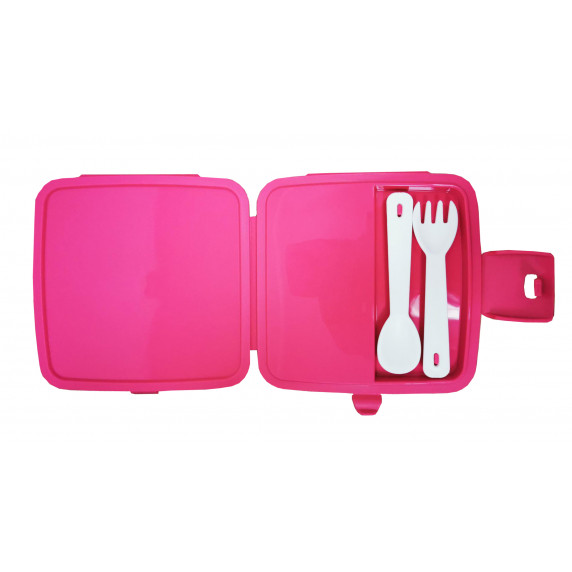Potravinový box na občerstvenie s príborom Inlea4Home - jednorožec