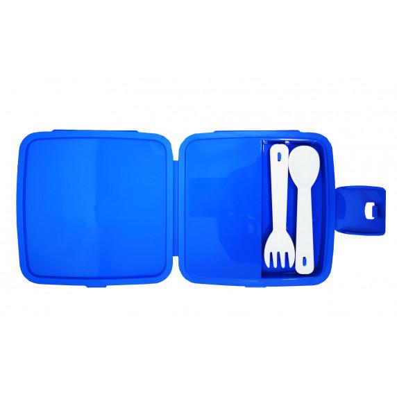 Potravinový box na občerstvenie s príborom Inlea4Home -žirafa