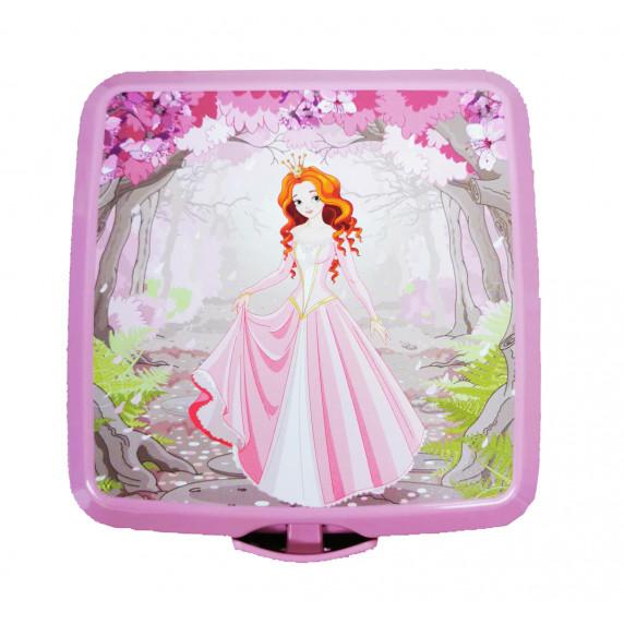 Potravinový box na občerstvenie s príborom Inlea4Home -princezna