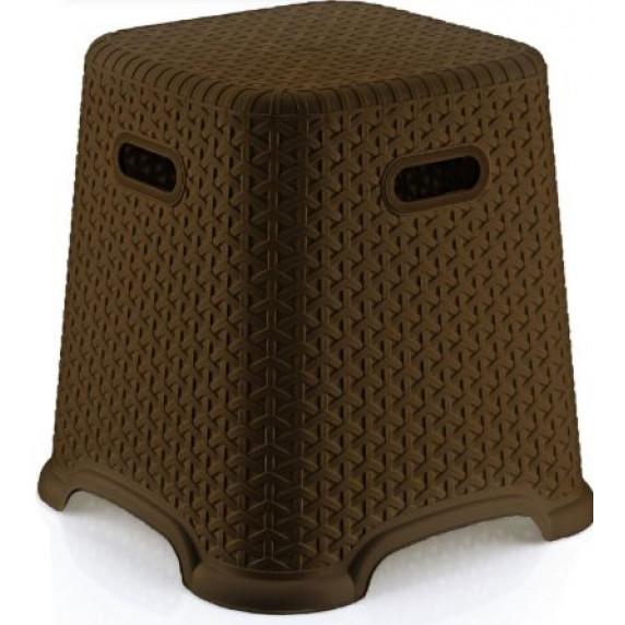 Taburetka s ratanovým dizajnom Bella 36,5 cm Inlea4Home - hnedá