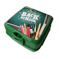 Potravinový box na občerstvenie s príborom Inlea4Home -Back to School