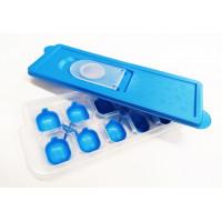 Silikónová forma na ľad s viečkom Inlea4Home - modrá