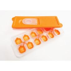 Silikónová forma na ľad s viečkom Inlea4Home - oranžová Preview