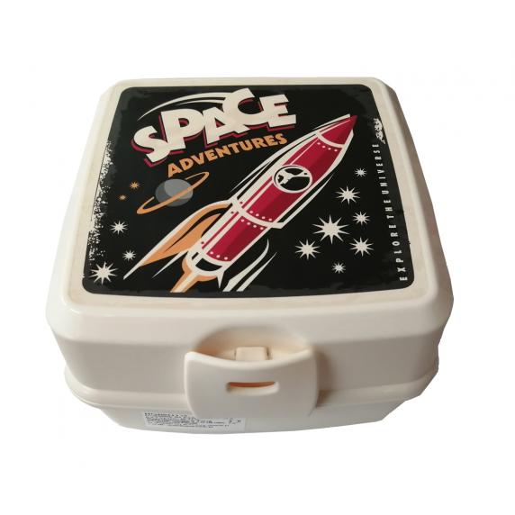 Potravinový box na občerstvenie s príborom Inlea4Home -SPACE