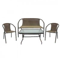 InGarden záhradná zostava BISTRO BIG stôl + lavica + 2 stoličky