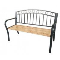 InGarden Záhradná lavička s kovaným designom 127 x 53 x 84 cm