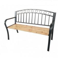 Záhradná lavička s kovaným designom InGarden 127 x 53 x 84 cm Preview