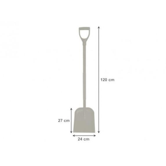 GARDEN LINE Piesková lopata s oceľovou rukoväťou 120 cm