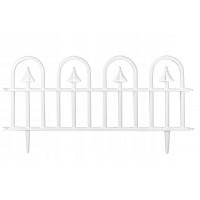 GARDEN LINE Záhradný plastový plot biely 60 x 30,5 cm - sada 4 ks