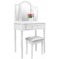 Toaletný stolík s taburetkou Inlea4Fun PHO0069