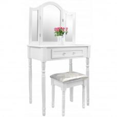 Inlea4Fun Toaletný stolík s taburetkou PHO0069 Preview