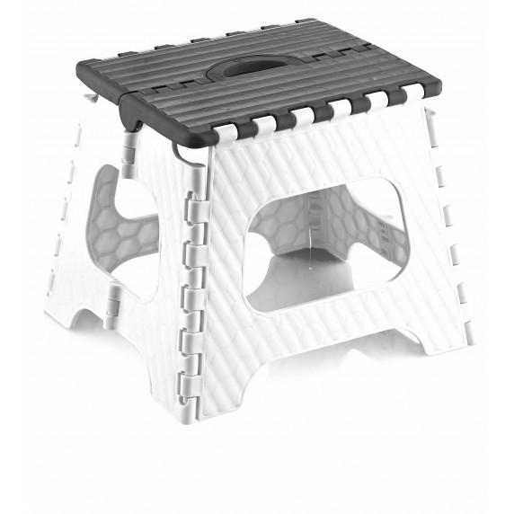 Skladacia stolička Inlea4Home  26,5 cm- sivá/biela