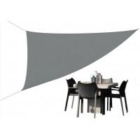 Trojuholníková záhradná tieniaca plachta 3 x 3 x 3 m - sivá