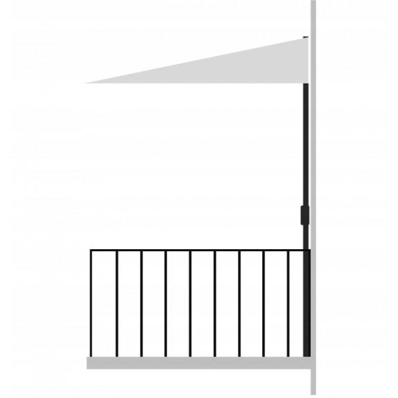 InGarden balkónový slnečník 2,7 m béžový