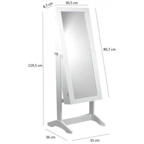 Inlea4Fun Inlea4Fun Stojace zrkadlo so šperkovnicou 120 cm