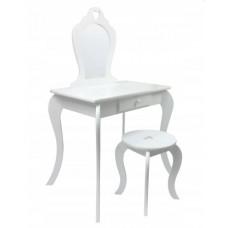 Inlea4Fun Detský toaletný stolík - biely Preview