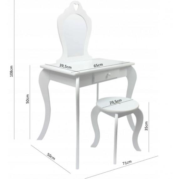 Detský toaletný stolík Inlea4Fun - mätový