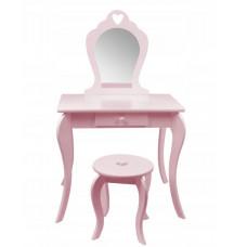 Inlea4Fun Detský toaletný stolík - ružový Preview
