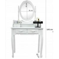 Inlea4Fun Stojace zrkadlo so šperkovnicou 140 cm