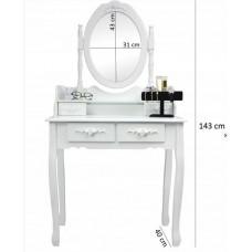 Inlea4Fun Stojace zrkadlo so šperkovnicou 140 cm Preview
