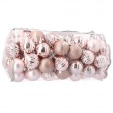 Inlea4Fun Vianočné gule 80 kusov - ružové Preview
