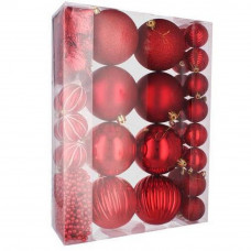 Inlea4Fun Vianočná sada 32 kusov gule + reťaze  - červená Preview