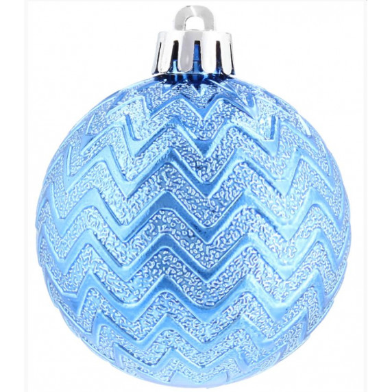 Vianočné gule 36 kusov 6 cm Inlea4Fun - modré