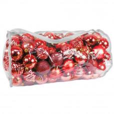 Inlea4Fun Vianočné gule 100 kusov - červené Preview