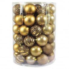 Inlea4Fun Vianočné gule 60 kusov - zlaté Preview