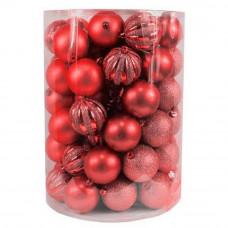 Inlea4Fun Vianočné gule 60 kusov - červené Preview