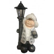 Inlea4Fun Chlapček so stojacim lampášom 50 cm Preview