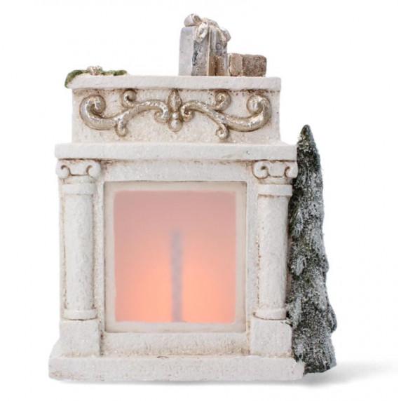 Inlea4Fun Vianočný krb 31 cm s LED svetlom