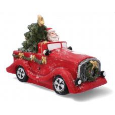 Inlea4Fun Mikuláš v červenom aute 30 cm Preview