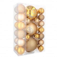 Inlea4Fun Vianočné gule 37 kusov - zlaté Preview