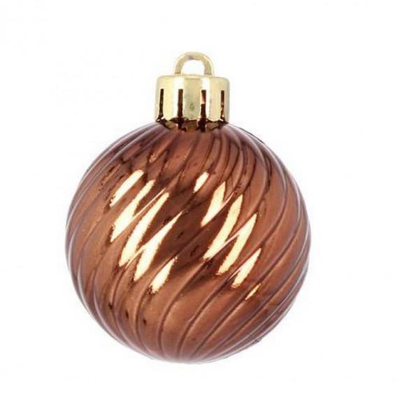 Inlea4Fun Vianočná sada 40 kusov gule + reťaz - medená