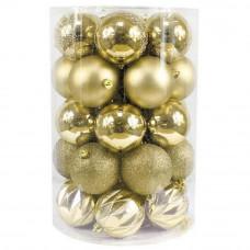 Inlea4Fun Vianočné gule 34 kusov - zlaté Preview