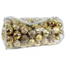 Inlea4Fun Vianočné gule 100 kusov - zlaté Preview