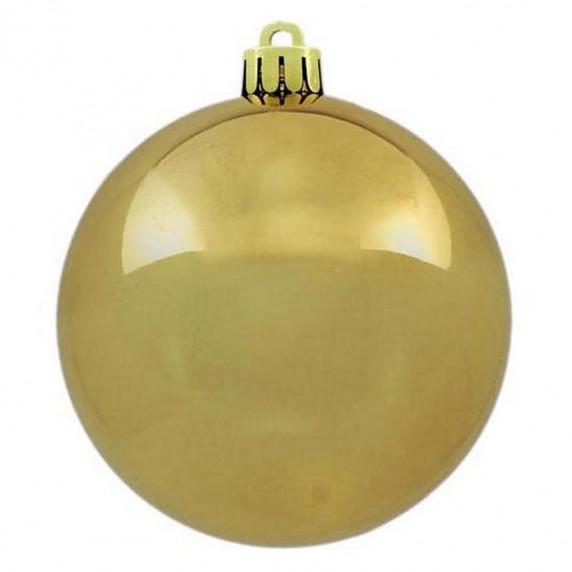 Inlea4Fun Vianočné gule 100 kusov 6 cm - zlaté
