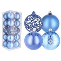 Inlea4Fun Vianočné gule 20 kusov 8 cm - modré